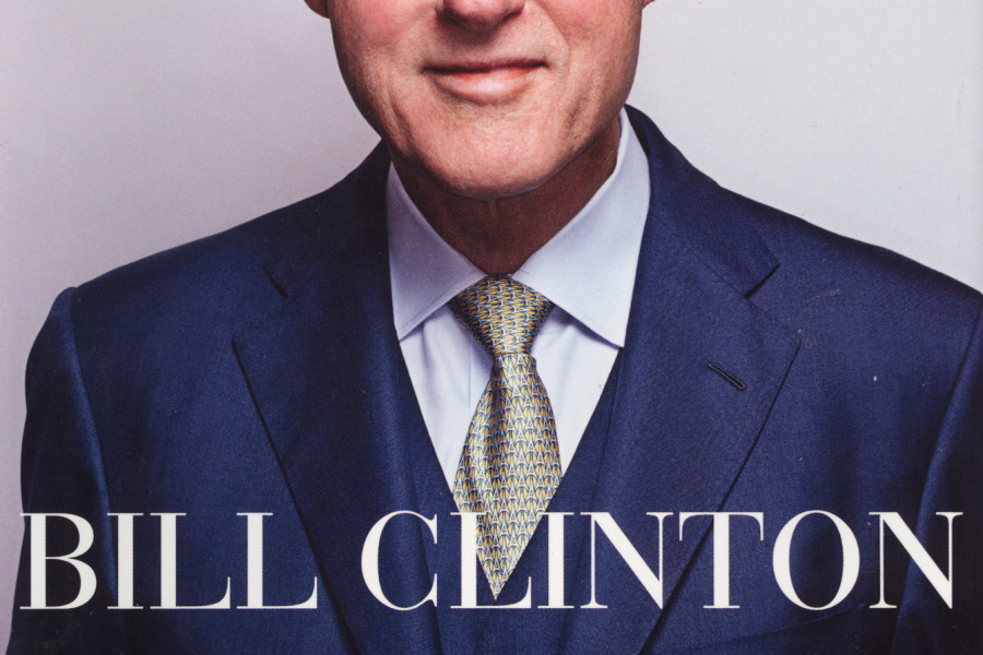 "Shows is a scanned book jacket image from ""Back to Work"" by former President Bill Clinton. The book is scheduled for release next Tuesday by Knopf. (AP Photo/Knopf)"